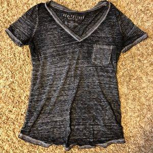 Black and grey T-shirt
